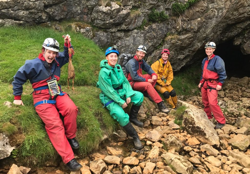 group of cavers